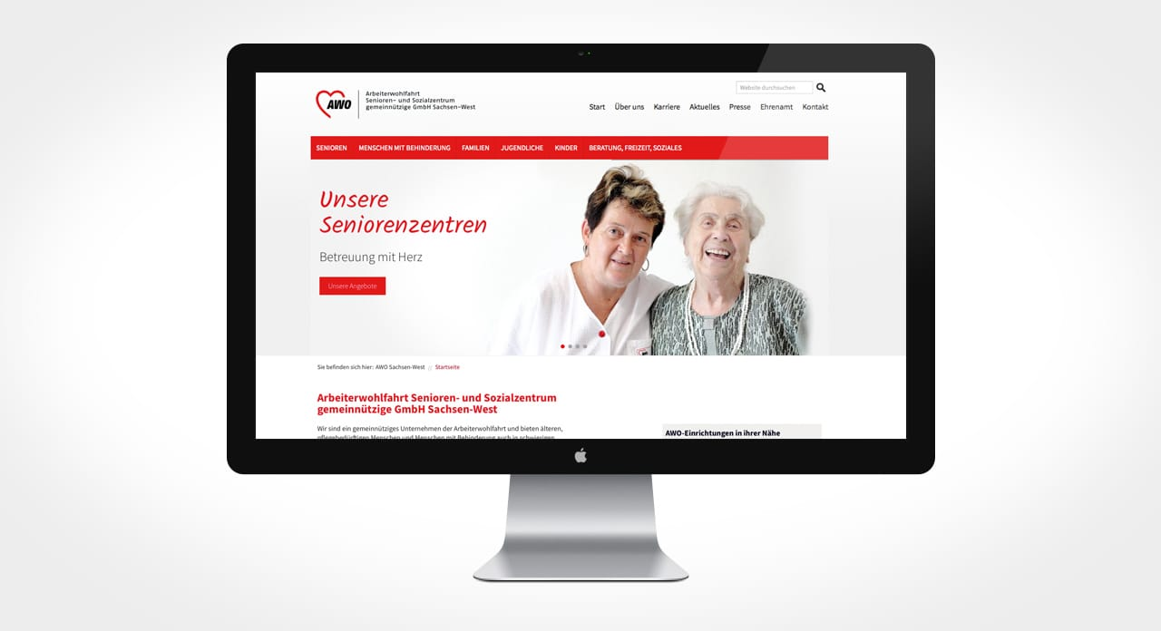 AWO Responsive Website von c2 mediaproduction Leipzig